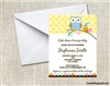Baby Shower Invitation - Owl