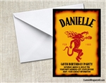 Fireball Cinnamon Whisky Birthday Party Invitation