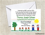 Graduation Announcement / Invitation - Stick Kids