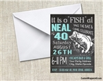 Adult Birthday Invitation - Fish Chalkboard