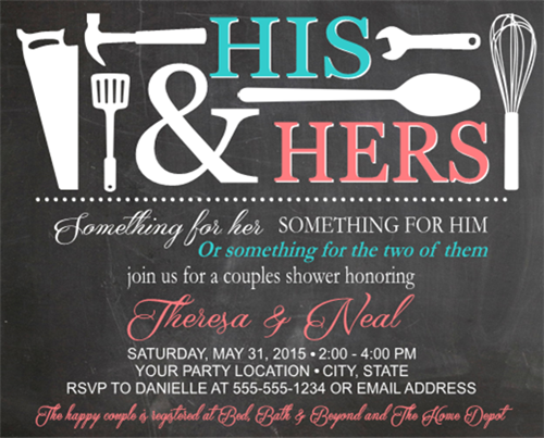 Wedding Shower Invitations For Couples: Bridal Shower Invitation