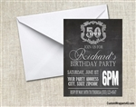 Adult Birthday Invitation - Chalkboard