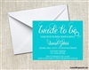 Bridal Shower Invitation - Bride to be (background color can be changed)