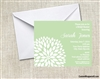 Bridal Shower Invitation - Dehlia Green