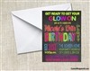 glow party invitation