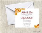 Bridal Shower Invitation - Fall In Love Leaves