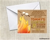 campfire birthday party invitation