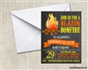 Camping Campfire birthday invitation