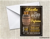Whiskey Aged to Perfection Birthday Party Invitation