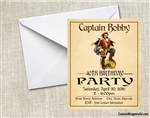 Captain Morgan Rum Birthday Party Invitation
