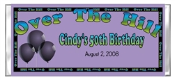 Adult Birthday Candy Wrapper - Over The Hill Balloons