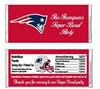 New England Patriots Football Candy Wrapper Party Favor