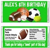 Birthday Candy Wrapper - Sports