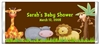 Baby Shower Candy Wrapper - Jungle Animals