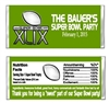 Super Bowl Candy Wrapper Party Favor