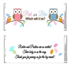 Baby Shower Candy Wrapper - Gender Reveal Owls