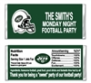 New York Jets Football Candy Wrapper Party Favor