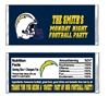 San Diego Chargers Football Candy Wrapper Party Favor