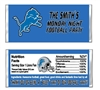 Detriot Lions Football Candy Wrapper Party Favor