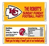 Kansas City Chiefs Football Candy Wrapper Party Favor