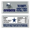 Dallas Cowboys Football Candy Wrapper Party Favor