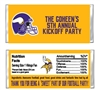 Minnesota Vikings Football Candy Wrapper Party Favor