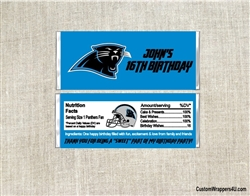 Carolina Panthers Candy Wrapper Party Favors
