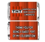 Minecraft mini candy wrapper birthday party favors