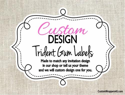 Custom Design Made To Match Trident Gum Wrapper