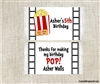 Movie party popcorn wrappers party favors