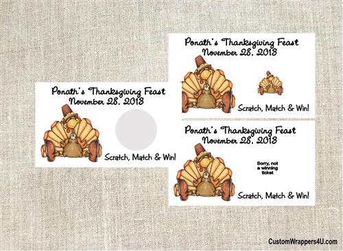 Thanksgiving Scratch Off - Turkey