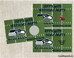 Football Scratch Off - Football Field Seahawks (team can be changed)