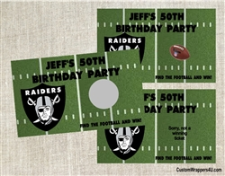 Football Scratch Off - Football Field Raiders (team can be changed)