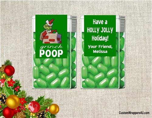 Christmas Tic Tacs Grinch Pills