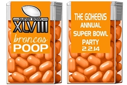 Super Bowl Tic Tacs - Team Poop (background color can be changed)