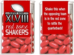 Super Bowl Tic Tacs - Red Zone Shakers (background color can be changed)
