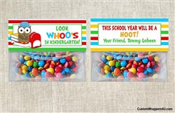 Back to School Treat Bag Topper - Owl