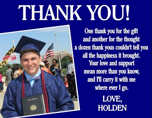 graduation thank you card photo 4 - Graduation Thank You Cards