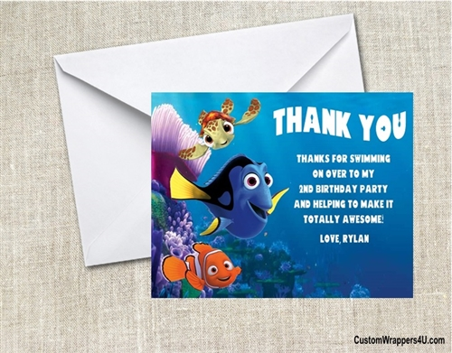 Birthday Thank You Card Finding Nemo