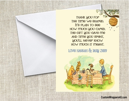 Baby Shower Thank You Card Winnie The Pooh