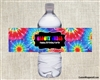 Birthday Water Bottle Label - Disco Groovy Juice