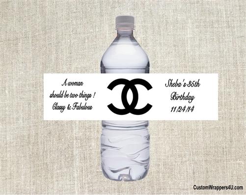 adult birthday water bottle label