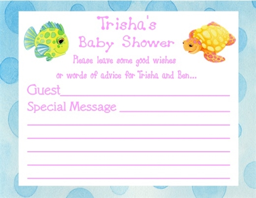 baby shower wish card ocean