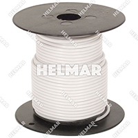 Primary Wire - Rated 80°C 18 Gauge - 16/30 Stranding - 02309 Wire (White 100')