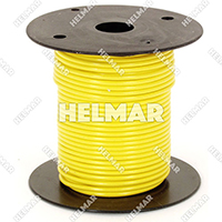 Primary Wire - Rated 80°C 18 Gauge - 16/30 Stranding - 02312 Wire (Yellow 100')