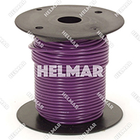 Primary Wire - Rated 80°C 18 Gauge - 16/30 Stranding - 02317 Wire (Purple 100')