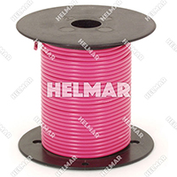 Primary Wire - Rated 80°C 18 Gauge - 16/30 Stranding - 02321 Wire (Pink 100')