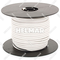 Primary Wire - Rated 80°C 8 Gauge - 19/21 Stranding - 02551 Wire (White 100')
