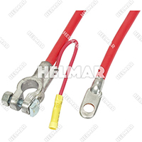 "Forklift 4 Gauge Top Mount Battery Cables -04168 (Red 10"")+E473:E533"