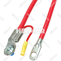"Forklift 4 Gauge Battery Cables - Side Mount 04260 (Red 40"")"